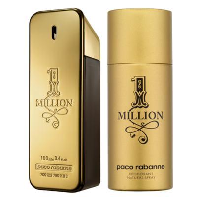 Imagem 1 do produto 1 Million Paco Rabanne - Masculino - Eau de Toilette - Perfume + Desodorante - Kit