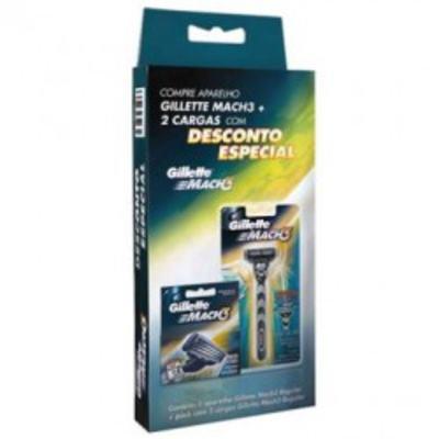Imagem 1 do produto Aparelho de Barbear Gillette Mach 3 Com 2 Cargas
