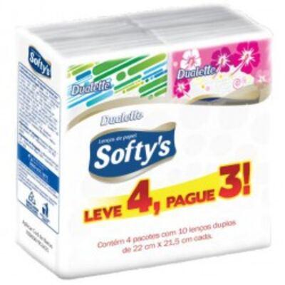 Imagem 1 do produto Lenço de Papel Softys 10 Unidades 4 Pacotes