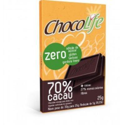 Barra de Chocolate Chocolife Amargo 70% Cacau 25g