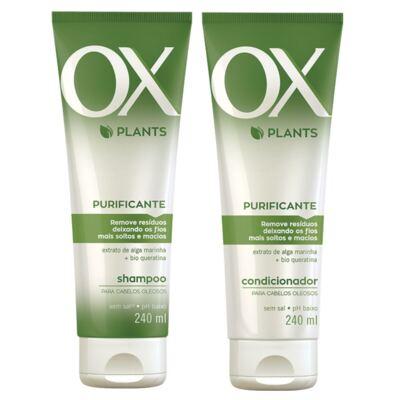 Kit OX Plants Purificante Shampoo 240ml + Condicionador 240ml