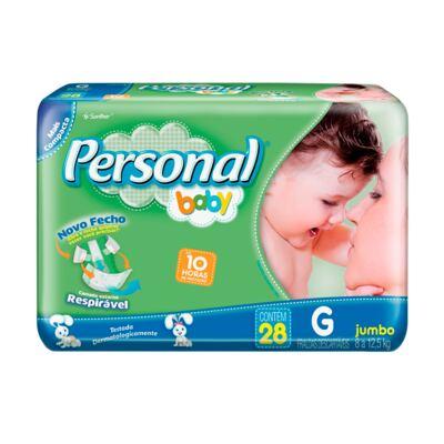 Fralda Descartável Personal Baby Jumbo G 28 Unidades