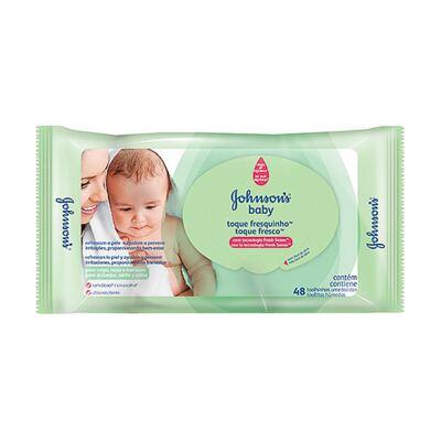 Imagem 1 do produto Lenço Umedecido Johnson´s Baby Toque Fresquinho 48 Unidades