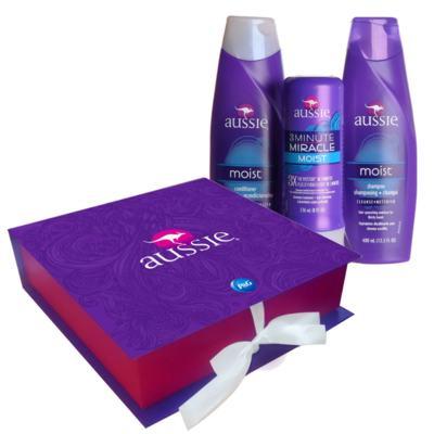 Kit Aussie Moist Shampoo e Condicionador 400ml + Creme de Tratamento 3 Minutos Milagrosos 236ml + Caixa Exclusiva