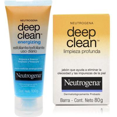 Energizing Neutrogena Deep Clean 100g + Neutrogena Sabonete 80g