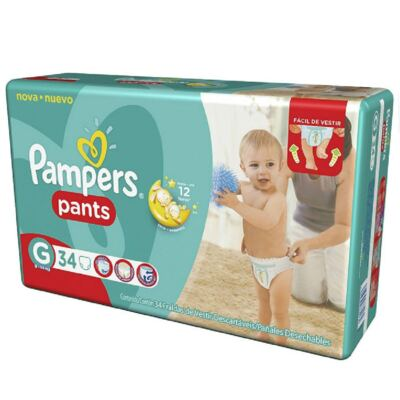 Imagem 1 do produto Fralda Descartável Pampers Pants Mega G 34 Unidades