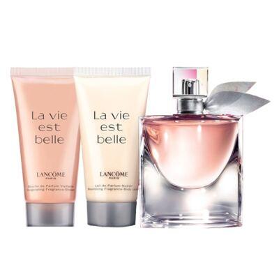 Imagem 1 do produto La Vie Est Belle Lancôme - Feminino - Eau de Parfum - Perfume + Gel de banho + Loção Corporal - Kit