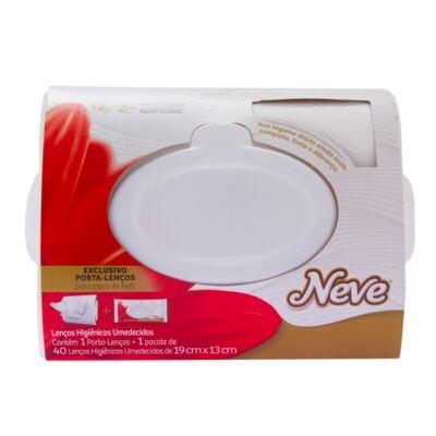 Imagem 1 do produto Porta Lenços + Lenços Umedecidos Neve Seda 40 Unidades