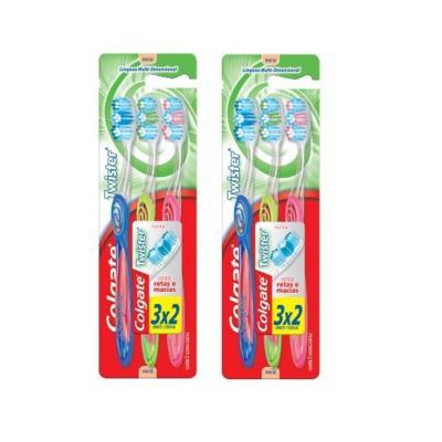 Escova Dental Colgate Twister Macia Leve 6 Pague 4