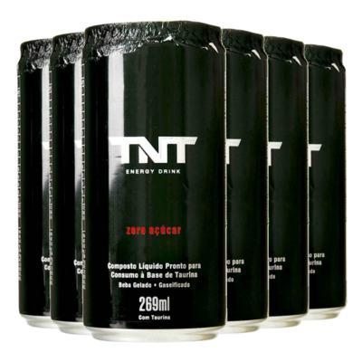 Kit Energético TNT Energy Drink Zero Açúcar 269ml 6 Unidades