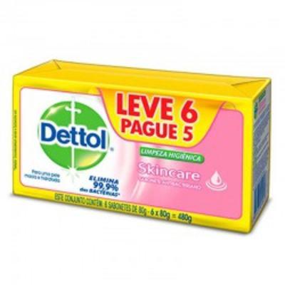 Sabonete Dettol Barra Skincare 6 Unidades