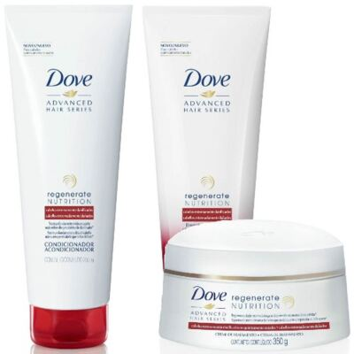 Kit Dove Regenerate Nutrition Shampoo + Condicionador + Creme