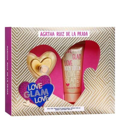 Imagem 1 do produto Love Glam Love Agatha Ruiz de La Prada - Feminino - Eau de Toilette - Perfume + Loção Corporal - Kit
