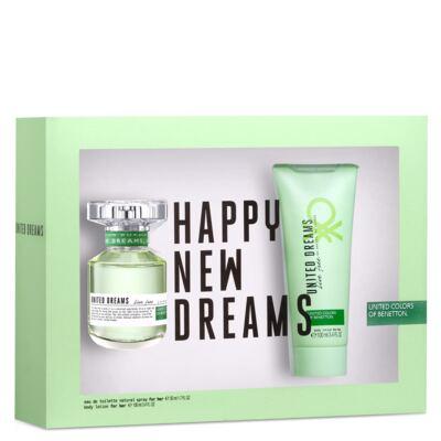 Imagem 1 do produto United Dreams Live Free Benetton- Feminino - Eau de Toilette - Perfume + Loção Corporal - Kit