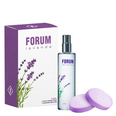 Imagem 1 do produto Forum Lavanda Forum - Feminino - Deo Colônia - Perfume + Sabonetes - Kit
