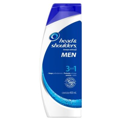Shampoo Head & Shoulders Men Anticaspa 3 em 1 400ml