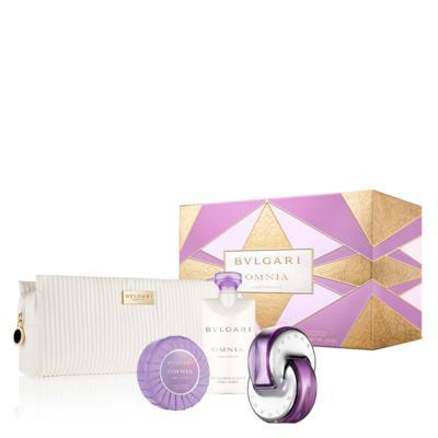 Imagem 1 do produto Omnia Amethyste BVLGARI - Feminino - Eau de Toilette - Perfume + Loção Corporal + Sabonete + Necessaire - Kit