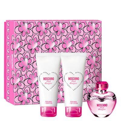 Imagem 1 do produto Pink Bouquet Moschino - Feminino - Eau de Toilette - Perfume + Loção Corporal + Gel de Banho - Kit