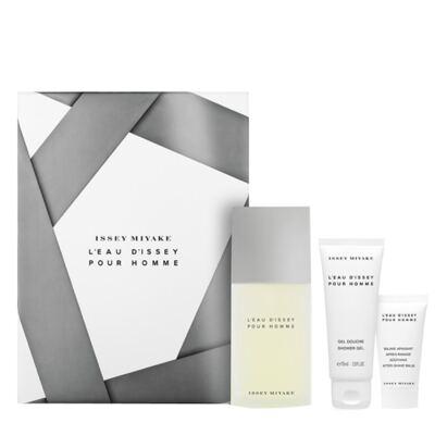 Imagem 1 do produto L'eau D'issey Pour Homme Issey Miyake - Masculino - Eau de Toilette - Perfume + Gel de Banho + Loção Pós Barba - kit