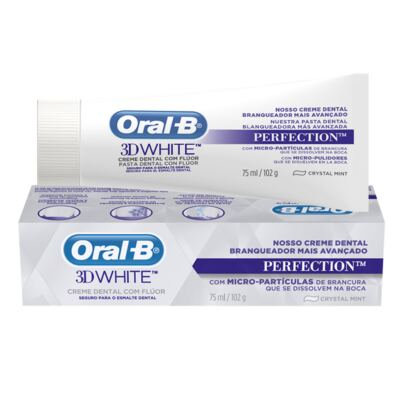 Imagem 25 do produto Kit Oral-B 2 Escovas Indicator 30 Plus + Creme Dental 3D White Perfect 75g