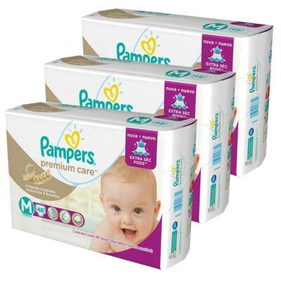 Imagem 3 do produto Kit 3 Fraldas Pampers Premium Care Mega M 144 Unidades