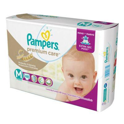 Imagem 24 do produto Kit 3 Fraldas Pampers Premium Care Mega M 144 Unidades