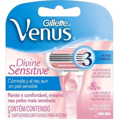 Imagem 3 do produto Carga para Aparelho Gillette Venus Divine Sensitive 2 Unidades