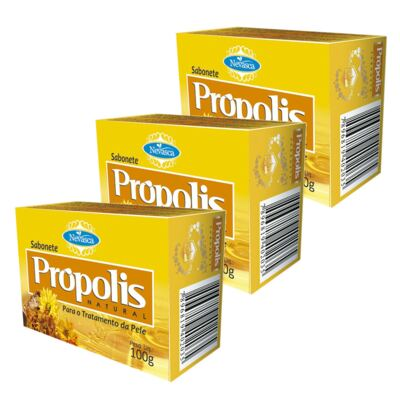 Imagem 2 do produto Nevasca Sabonete Natural Própolis 100g 3 Unidades