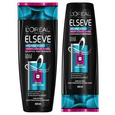 Imagem 4 do produto Kit Elseve Shampoo e Condicionador Arginina X3
