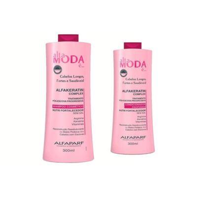 Shampoo + Condicionador Alta Moda Alfakeratização 300ml