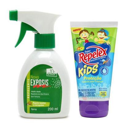 Repelente Exposis Spray 200ml + Repelente Replex Kids 133ml