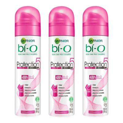 Kit Desodorante Bí-O Protection 5 Aerosol Feminino 150ml 3 Unidades