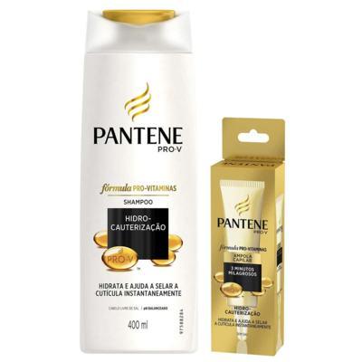 Kit Pantene Hidro Cauterização Shampoo 400ml + Ampola de Tratamento 15ml