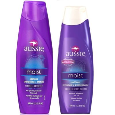 Aussie Moist Shampoo 400ml + Aussie Moist Condicionador 400ml