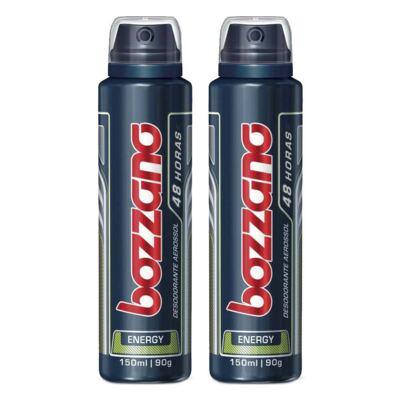 Kit Desodorante Aerosol Masculino Bozzano Energy 90g 2 Unidades
