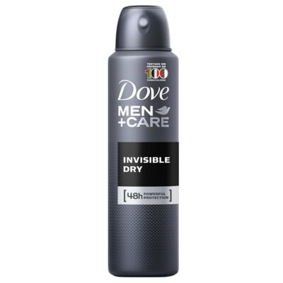 Imagem 3 do produto Kit Desodorante Aerosol Dove Invisible Dry Feminino 100g + Desodorante Aerosol Dove Men Care Invisible Dry Masculino 89g
