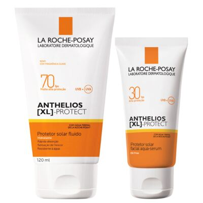 Kit Protetor Solar La Roche-posay Anthelios Xl Fps 70 120ml + Facial Fps 30 40g