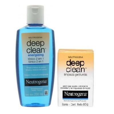 Imagem 1 do produto Tônico 2 em 1 Energizing Neutrogena Deep Clean 200ml + Neutrogena Sabonete Facial Deep Clean Energizante 80g