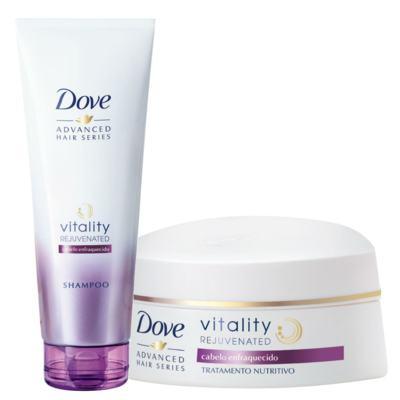 Kit Dove Vitality Rejuvenated Shampoo 200ml + Creme de Tratamento Capilar 350g