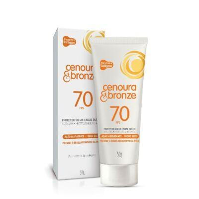Imagem 2 do produto Kit Protetor Solar Cenoura & Bronze FPS 30 200ml + Protetor Facial FPS 70 50g
