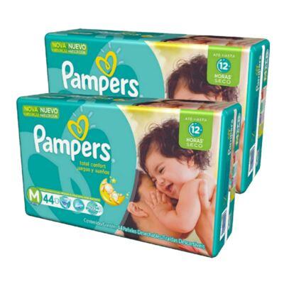 Imagem 1 do produto Kit Fralda Pampers Total Confort M 88 Unidades