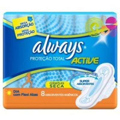 Imagem 2 do produto Kit 4 Absorvente Always Proteção Total com Abas 32 Uniddes