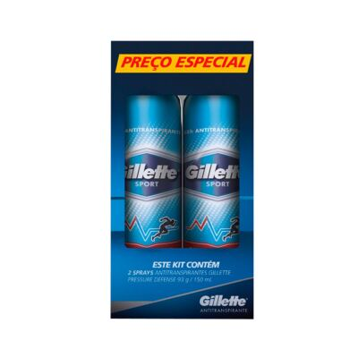 Kit Gillette Desodorante Aerosol Sport Pressure Defense 93g - 2 Unidades