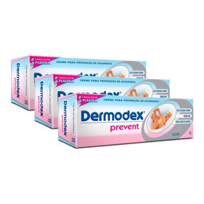 Kit Creme Assadura Dermodex Prevent 60g 3 Unidades