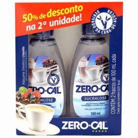Adoçante Zero Cal Sucralose - 100ml + 50% desconto na 2ª unidade