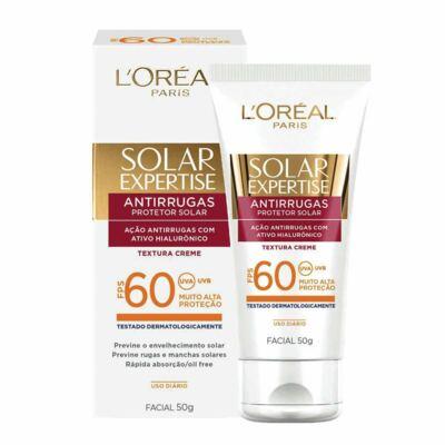 Protetor Solar L'Oréal Expertise Facial FPS 60 50ml