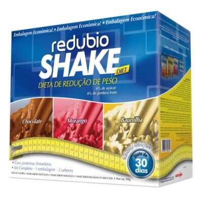 Imagem 1 do produto Kit Redubio Shake 3 Sabores Baunilha, Chocolate e Morango