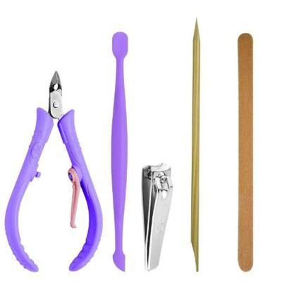 Imagem 7 do produto Kit Secador Viagem Lizz Mini 1500 Bivolt + Kit Flex Mundial Cuidado para Mãos 6 Peças