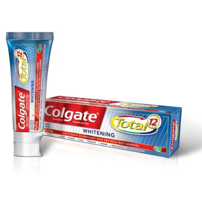 Creme Dental Colgate Gel Total 12 Whitening 90g