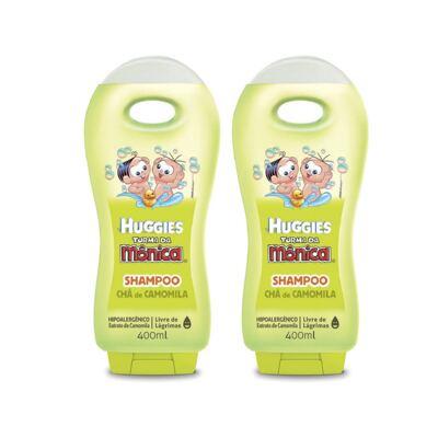 Imagem 1 do produto Shampoo Turma da Mônica Chá de Camomila 400ml 2 Unidades